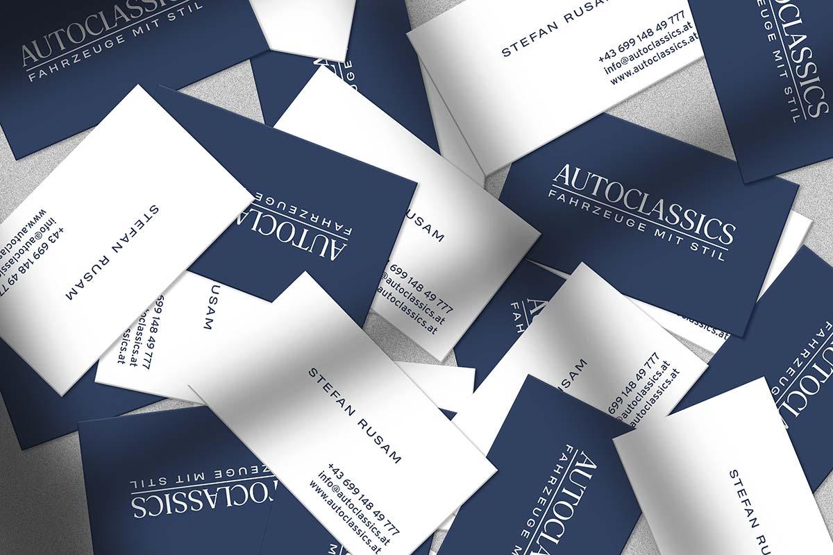 Geschäftsausstattung für Autoclassics I gographics