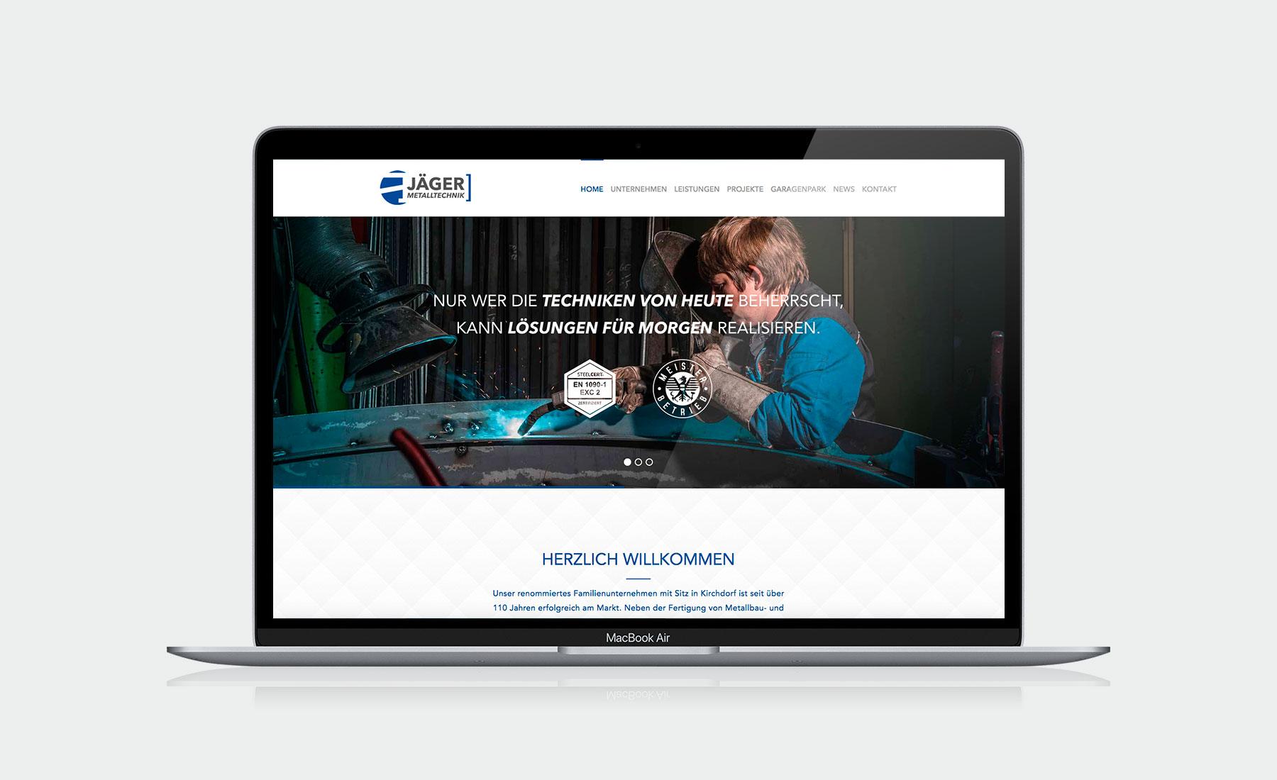Website für Fa. Jäger Metalltechnik I gographics