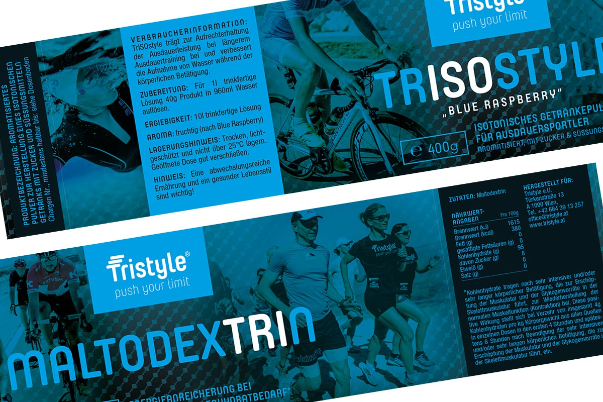 Labeldesign für Fa. Tristyle I gographics Gertraud Ömer