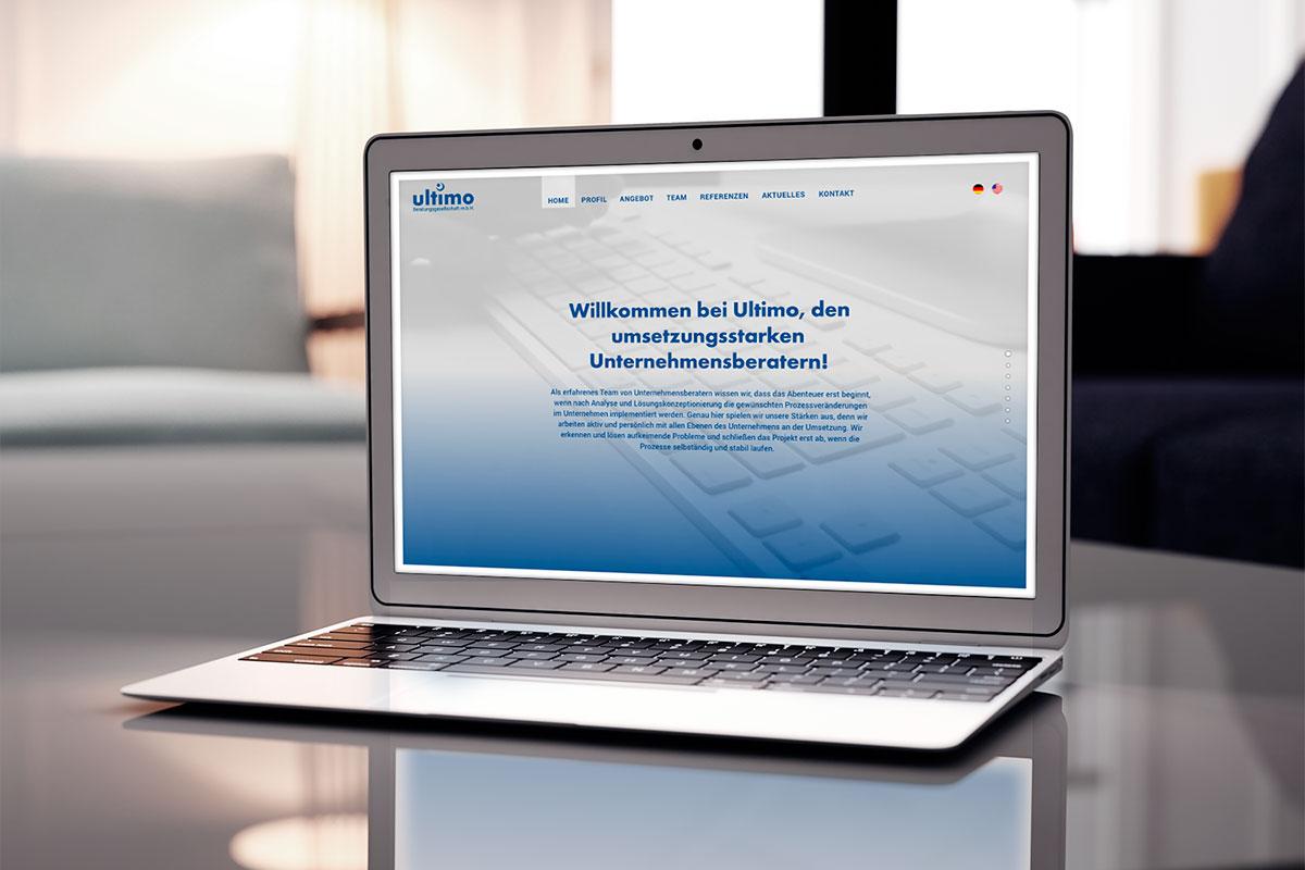 Webdesign für Fa. Ultimo I gographics